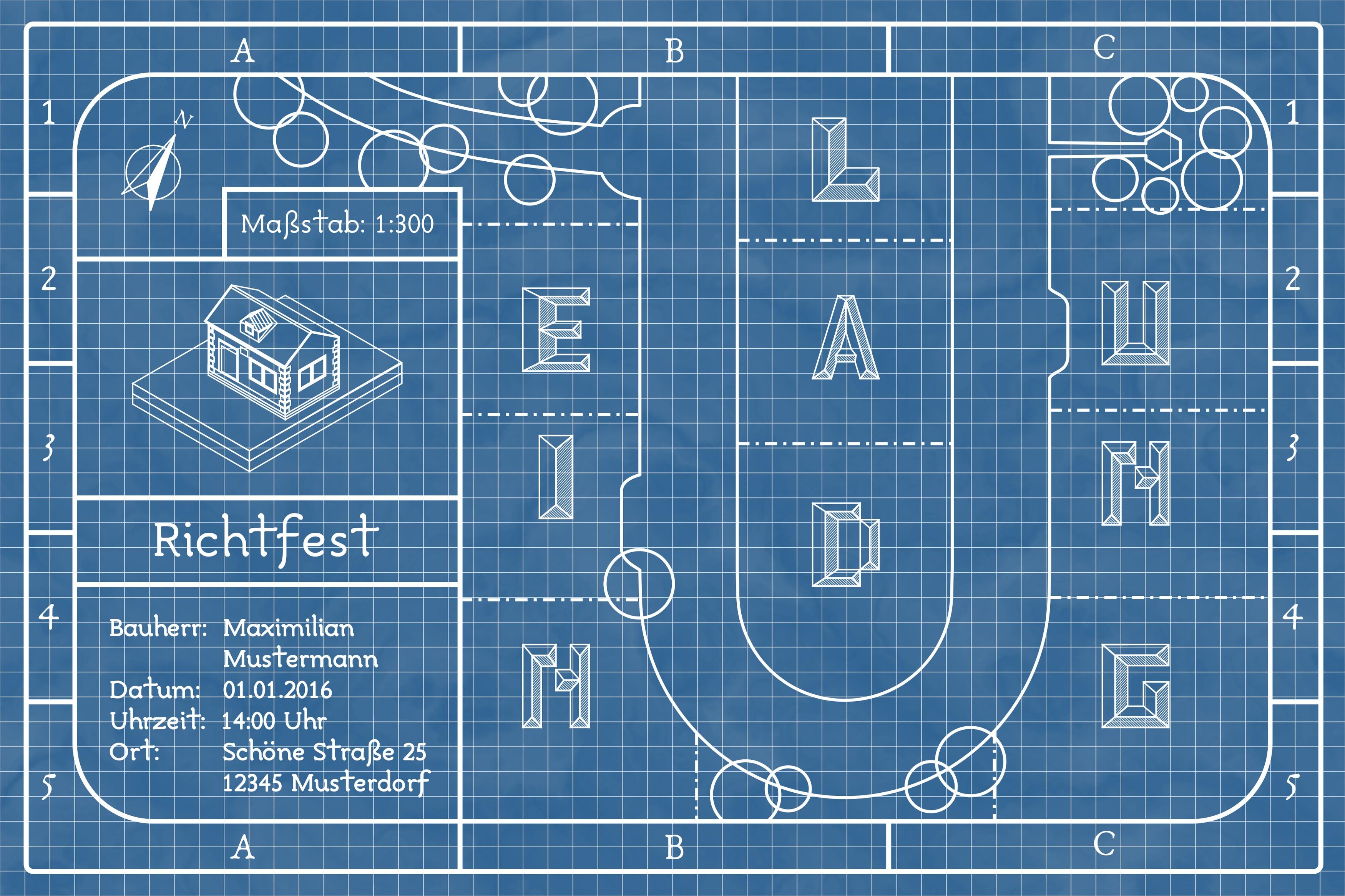 einladungskarte zum richtfest. Black Bedroom Furniture Sets. Home Design Ideas