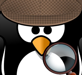 Investigativer Pinguin